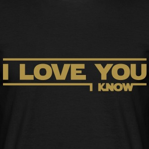 I love you, I know (Star Wars) - T-shirt herr