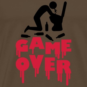 Vomit Toilette Game Over T-Shirts - Men's Premium T-Shirt
