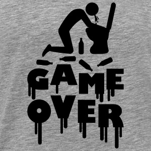 Vomit Toilette Game Over T-skjorter - Premium T-skjorte for menn