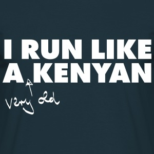 I Run Like A (Very Old) Kenyan Camisetas - Camiseta hombre