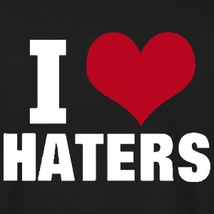I LOVE HATERS T-shirts - T-shirt herr