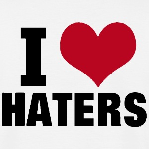 I LOVE HATERS T-shirts - Mannen T-shirt