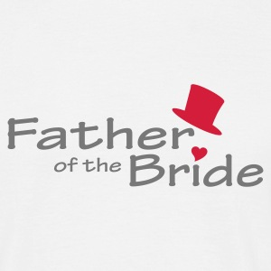 White Father of the Bride Men's Tees - Men's T-Shirt