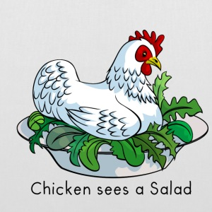 Chicken Sees A Salad Bags & backpacks - Tote Bag