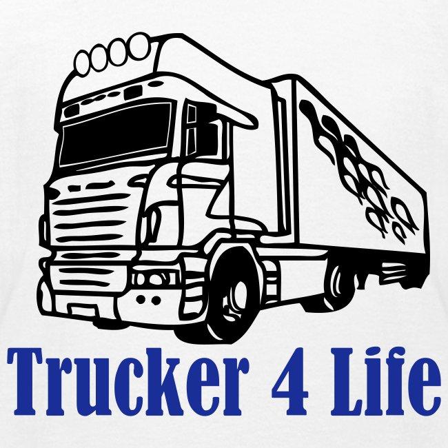 T-shirt barn Trucker 4 life När jag blir stor ska jag också köra Lastbil