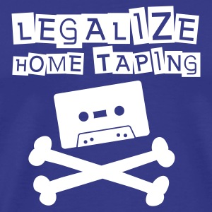 Royal blue Legalize home taping T-Shirts - Premium T-skjorte for menn