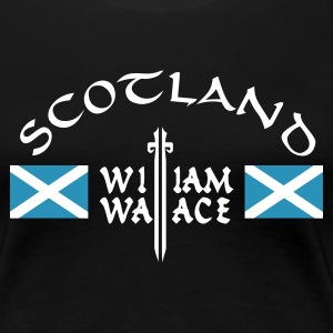 Schwarz Scotland William Wallace Girlie - Frauen Premium T-Shirt