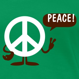 Grass grün peace sign T-Shirts (Kurzarm) - Frauen Premium T-Shirt
