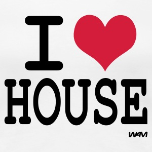 Weiß i love house by wam T-Shirts - Frauen Premium T-Shirt