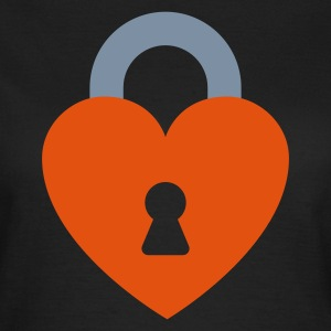 Heart Lock (v1, 2c, MPde) - Frauen T-Shirt