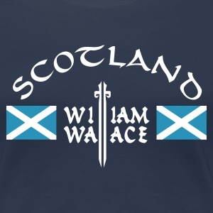 Navy Scotland William Wallace Girlie - Frauen Premium T-Shirt