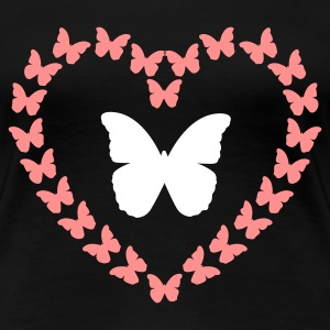 Butterfly Heart Double (2c, NEU) - Frauen Premium T-Shirt