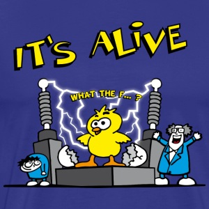 its_alive_chick_b T-shirts - Mannen Premium T-shirt