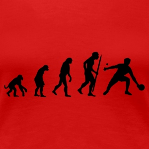 Rood Evolution of ping pong T-shirts - Vrouwen Premium T-shirt
