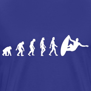 Divablå Surfer Evolution 1 (1c) T-shirts - Herre premium T-shirt