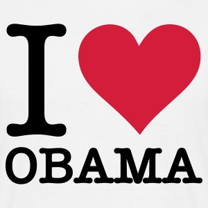 Sand beige I Love Obama (2c, NEU) Men's T-Shirts - Men's T-Shirt
