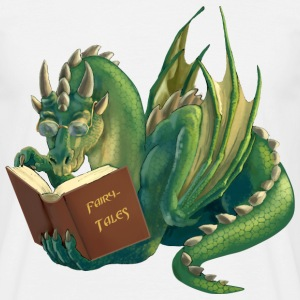 reading dragon - Men's T-Shirt