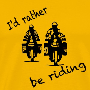 rather be riding black T-Shirts - Männer Premium T-Shirt