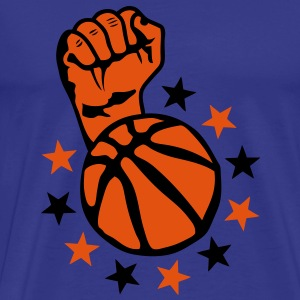 basketball poing lever fist fermer faust Tee shirts - T-shirt Premium Homme