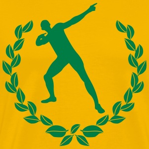 Laurel wreath Usain Bolt  T-Shirts - Men's Premium T-Shirt