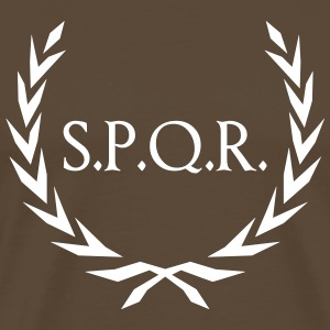Laurel wreath Rome SPQR  T-Shirts - Men's Premium T-Shirt