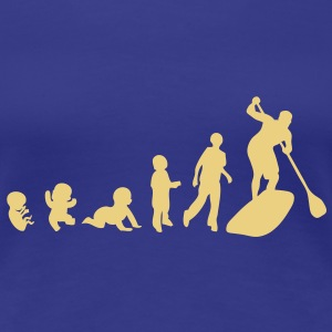 evolution paddle board bebe baby adulte Tee shirts - T-shirt Premium Femme