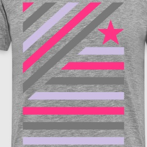 Farbspeil in diagonal stripes and star 2  T-Shirts - Men's Premium T-Shirt