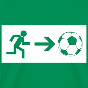 Emergency exit football  T-Shirts - Men's Premium T-Shirt