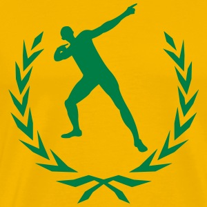 Usain Bolt laurel wreath  T-Shirts - Men's Premium T-Shirt