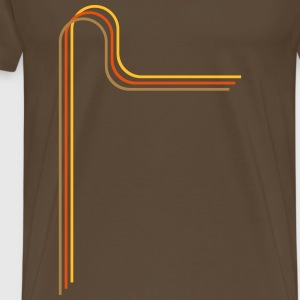 70s style strip 2  T-Shirts - Men's Premium T-Shirt