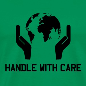 Handle With Care EARTH - Männer Premium T-Shirt