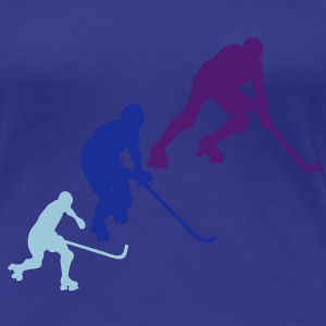rink hockey silhouette player6 animation Tee shirts - T-shirt Premium Femme