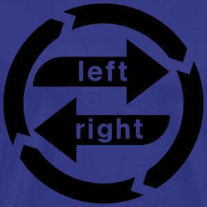 Right-left weakness  T-Shirts - Men's Premium T-Shirt