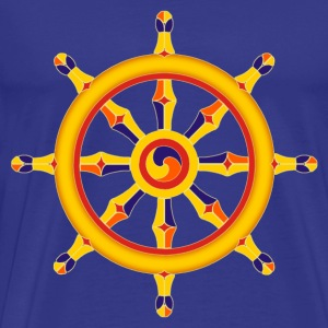 Wheel of Dharma T-skjorter - Premium T-skjorte for menn