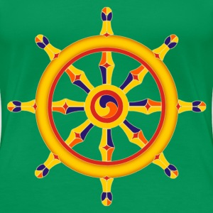 wheel of dharma - Frauen Premium T-Shirt