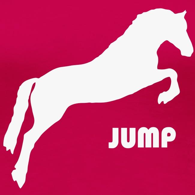 Jumping Horse White GlitterT-Shirt