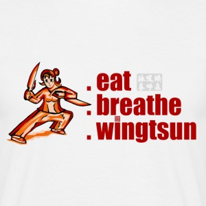 eat, breathe, wingtsun T-Shirts - Männer T-Shirt
