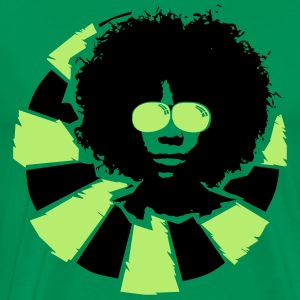 Afro hairstyle with sunglasses  T-Shirts - Men's Premium T-Shirt