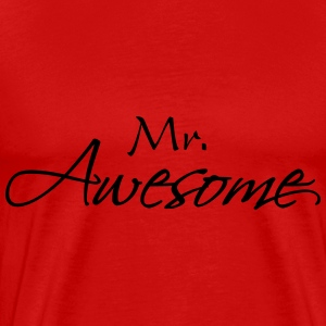 Mr Awesome T-shirts - Herre premium T-shirt