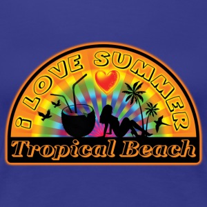 i love summer tropical beach Tee shirts - T-shirt Premium Femme