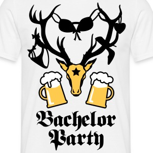 12 hirsch deer bachelor party bier beer JGA 3c b T-Shirts - Men's T-Shirt