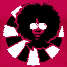 Afro hairstyle with sunglasses  T-Shirts