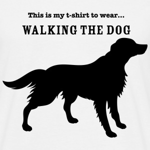 Walking the Dog - Men's T-Shirt