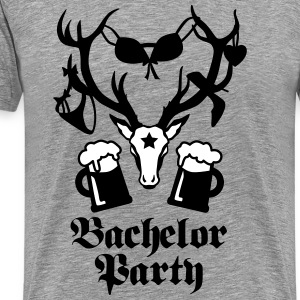 11 Hirsch Deer bachelor party bier beer JGA 2c T-Shirts - Men's Premium T-Shirt