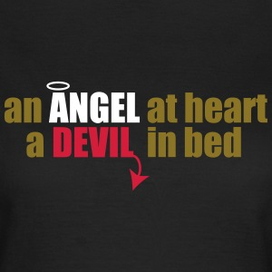 an angel at heart, a devil in bed T-Shirts - Women's T-Shirt