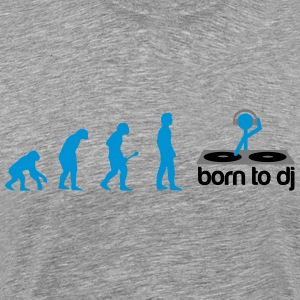 DJ Evolution - Born to DJ T-shirts - Herre premium T-shirt