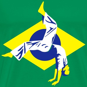 Tee shirt Capoeira - Brazilian flag - Men's Premium T-Shirt
