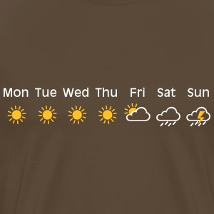 bad weekend weather T-shirts - Herre premium T-shirt