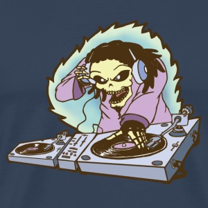 dj music skull - Men's Premium T-Shirt
