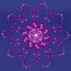 Floral Purple by Lola T-Shirts - Frauen Premium T-Shirt